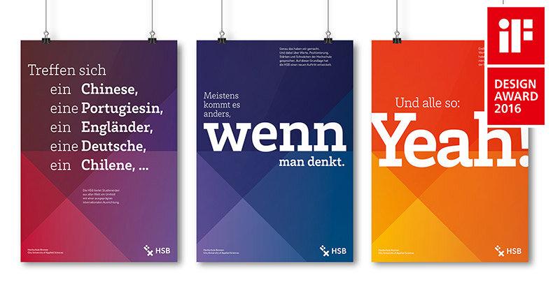 iF Design Award 2016 für Corporate Design Hochschule Bremen