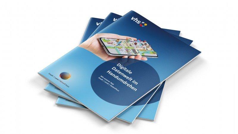 Gestaltung einer Broschüre für die App Stadt Land DatenFluss