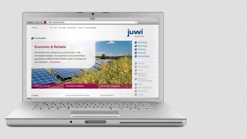 Juwi Onlineauftritt