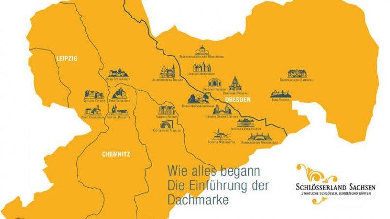Karte vom Schlösserland Sachsen