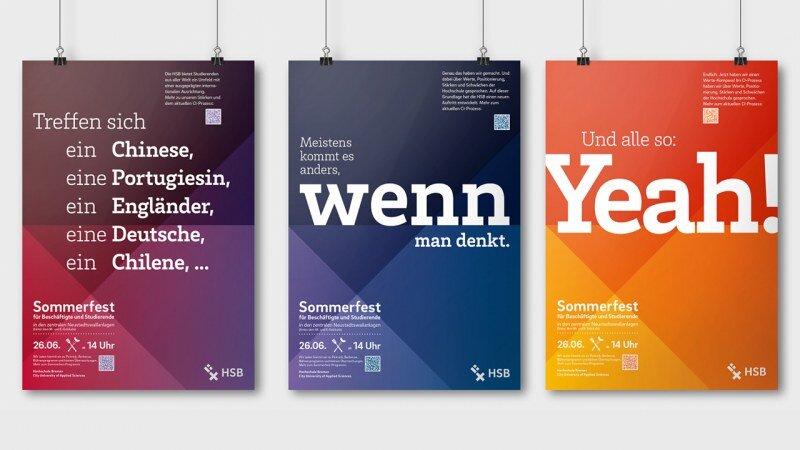 HSB Plakatkampagne für das Sommerfest