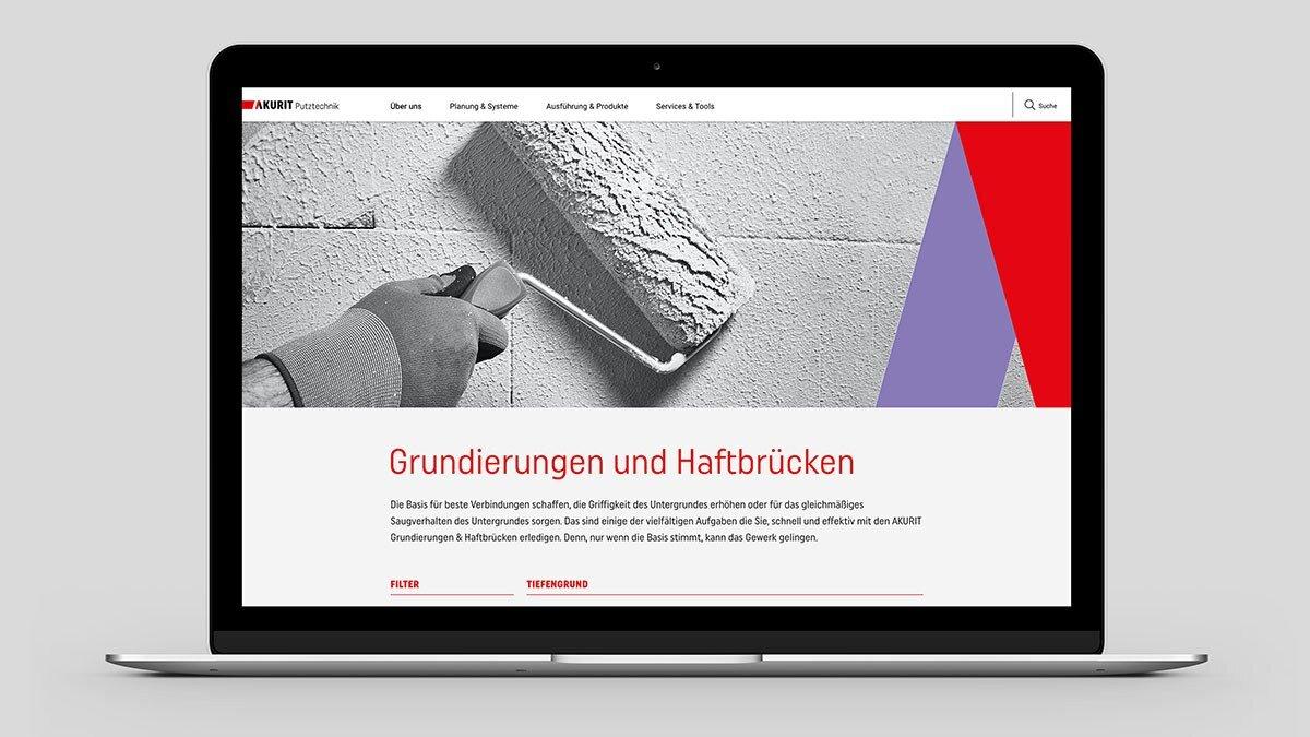 Webdesign: Ansicht der Warengruppen