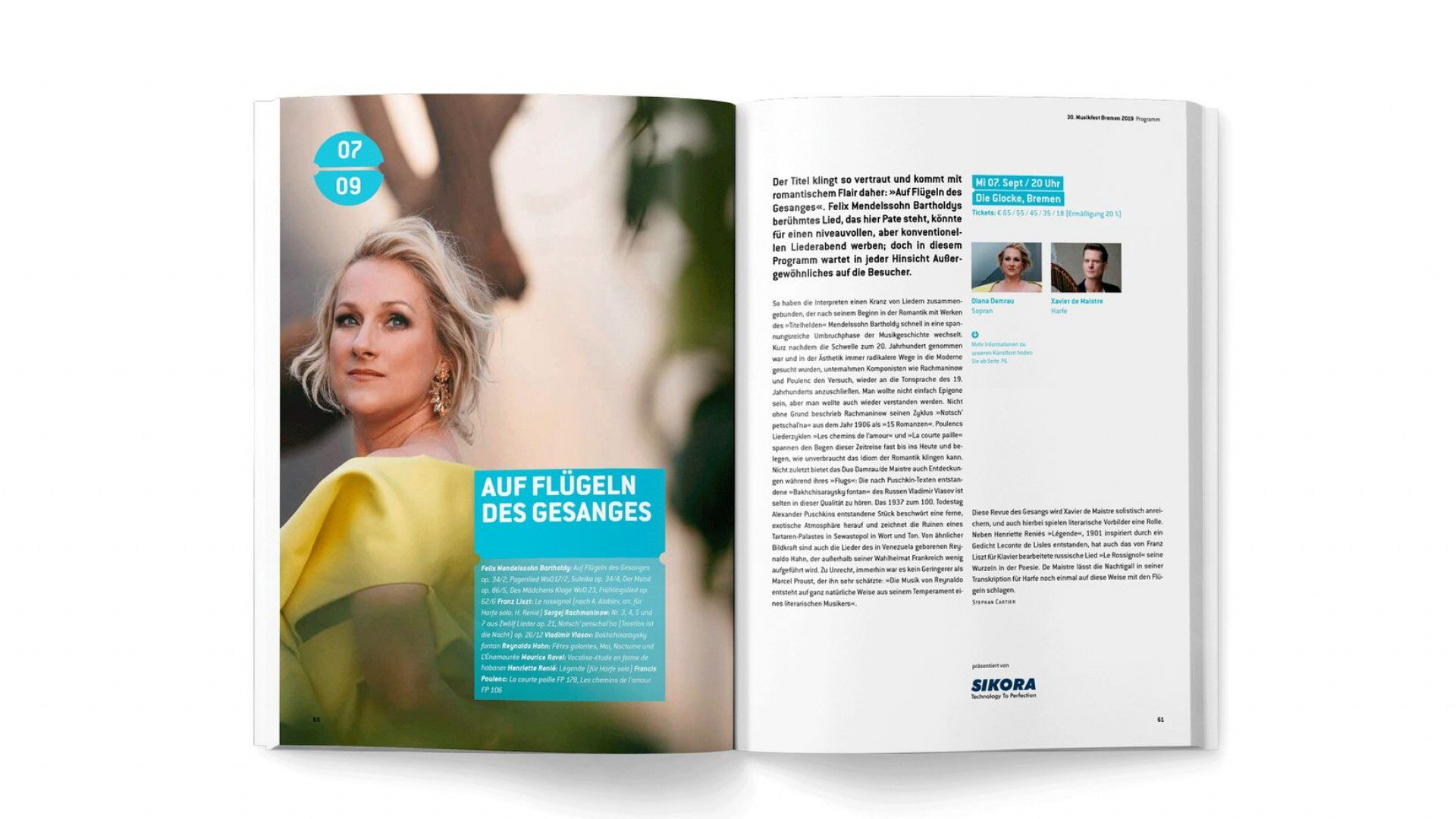 Editorial Design vom Magazin nach CD Relaunch des Musikfest Bremen