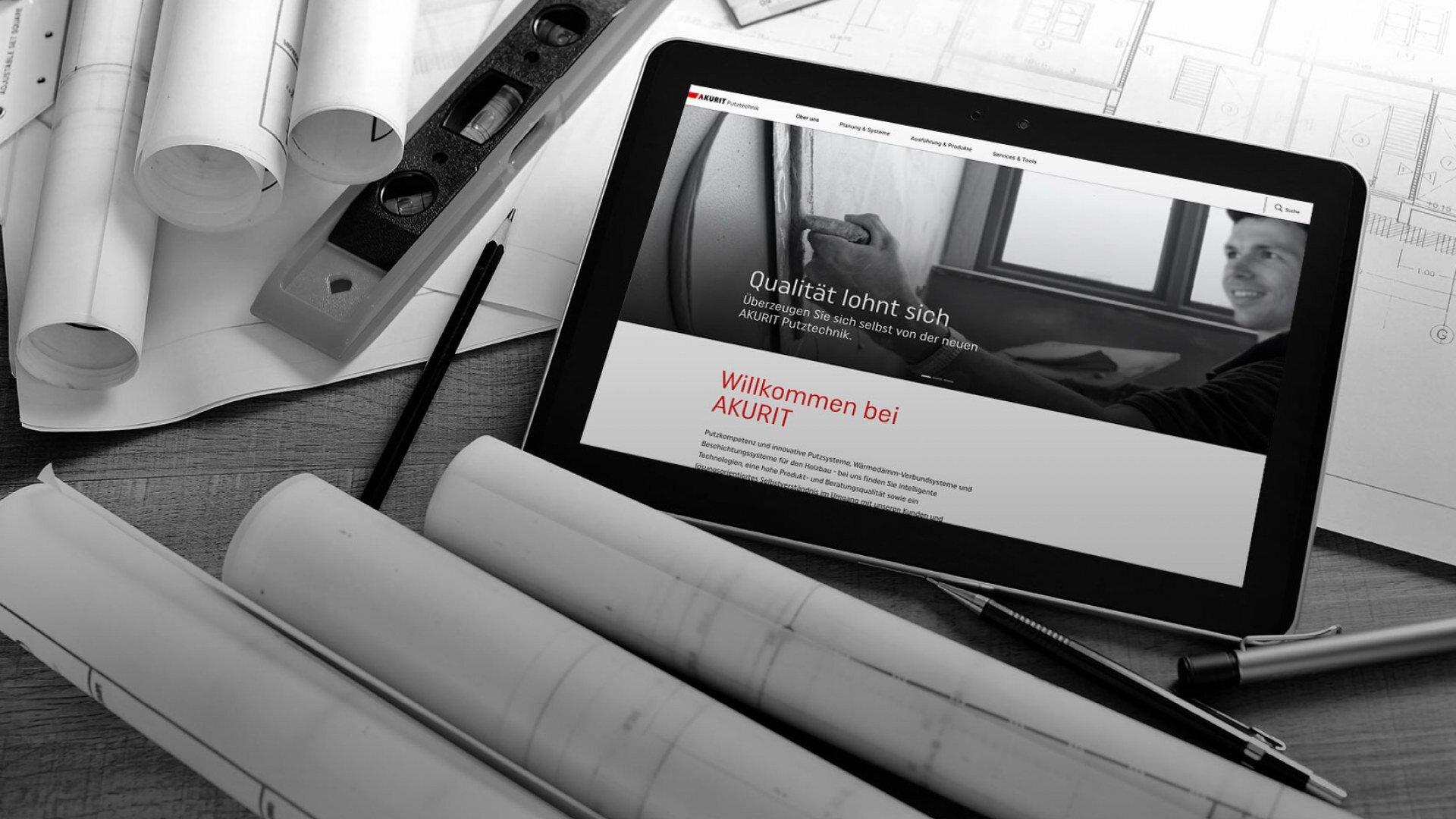 Webdesign in mobiler Ansicht